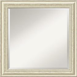 Amanti Art Country Whitewash Square Mirror Framed Mirror AA01487