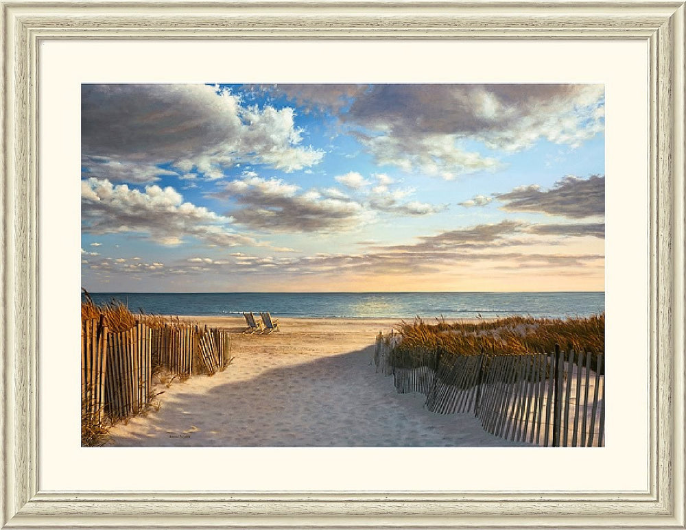"44x34"" Daniel Pollera Sunset Beach Framed Print"