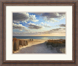 Amanti Art Daniel Pollera Sunset Beach Framed Print AA140540