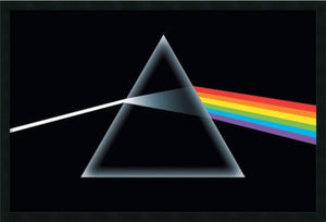 "26""H x 38""W Dark Side of the Moon Wall Art Satin Black"