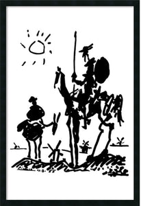Amanti Art Don Quixote Wall Art Satin Black AA577241