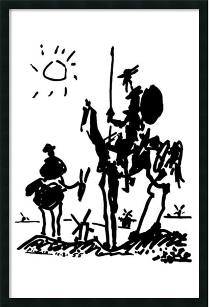 "38x26"" Don Quixote Wall Art Satin Black"