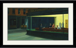 "42x27"" Edward Hopper Nighthawks 1942 Framed Print"