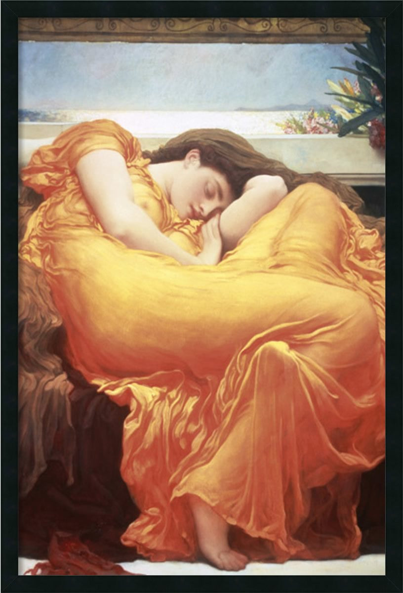 "38x26"" Flaming June Wall Art Satin Black"