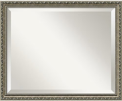 Amanti Art Parisian Silver Mirror Medium Framed Mirror AA01024
