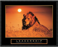 "29x23"" Leadership Lion Framed Print"