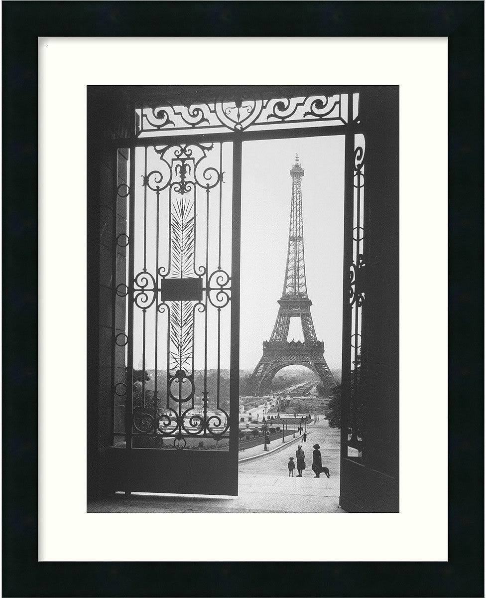 "18x22"" Gall The Eiffel Tower From The Trocadero 1925 Framed Print"