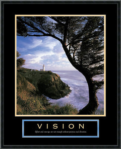 "23x29"" Vision Lighthouse Framed Print"