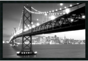 "26""H x 38""W San Francisco Framed Print"