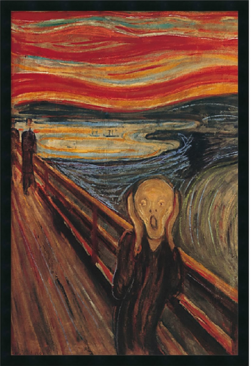 "25x37"" Edvard Munch The Scream Framed Print"