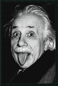 Amanti Art Albert Einstein Funny Face Framed Print AA01480