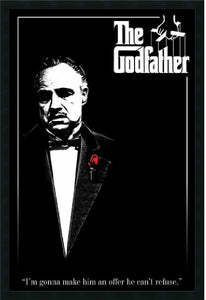 "37""H x 25""W Godfather Red Rose Framed Print"
