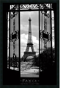 "25x37"" Eiffel Tower 1909 Framed Print"