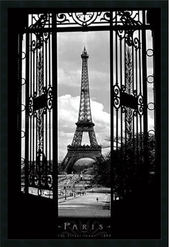 "38""H x 26""W Eiffel Tower 1909 Framed Print"