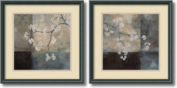 Amanti Art Laurie Maitland Spa Blossom Set of 2 Framed Art Print Black AA1004258