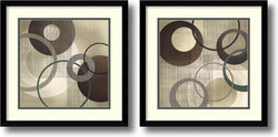 Amanti Art Tandi Venter Hoops and Loops Set of 2 Framed Art Print Black Gallery AA1004267
