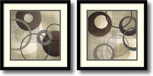 "17""H Tandi Venter Hoops and Loops Set of 2 Framed Art Print Black Gallery"