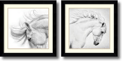Amanti Art Phyllis Bruchett Flair and Attitude Set of 2 Framed Art Print Arqadia Satin Black AA1004308