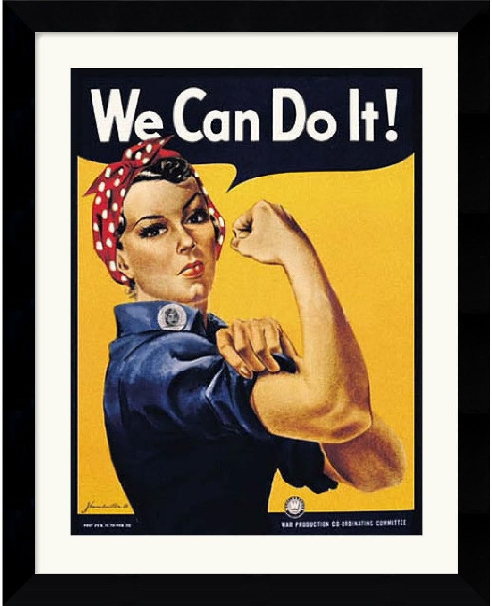 "25x31"" Howard Miller Rosie The Riveter We Can Do It Framed Art Print Paper"