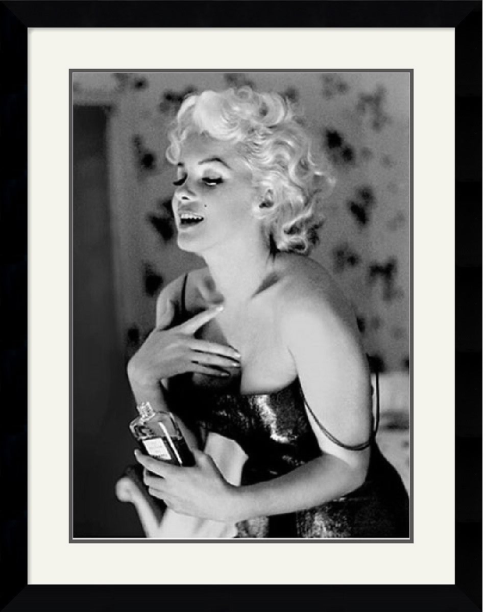 "28x36"" Ed Feingersh Marilyn Monroe Chanel No. 5 Framed Print"