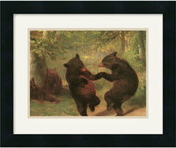 "18x15"" William Beard Dancing Bears Framed Print"