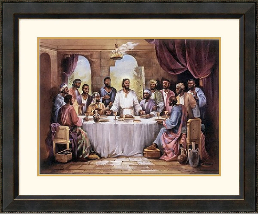 "34x28"" Quintana The Last Supper Framed Print"