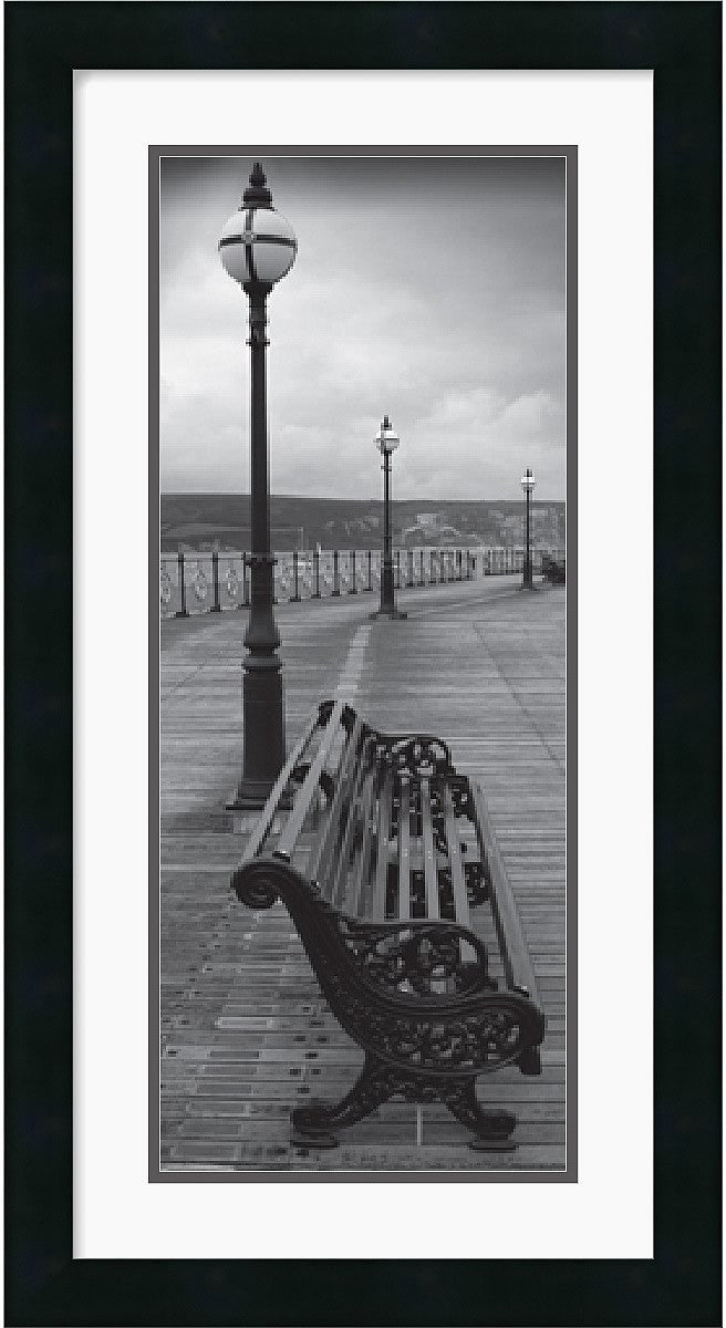 "14x26"" Bench on the Boardwalk Framed Print"
