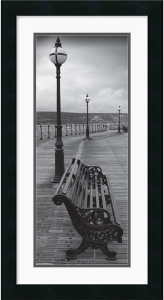 Amanti Art Bench on the Boardwalk Framed Print AA140553