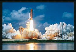 Amanti Art Space Shuttle Take-Off Framed Art Gel Coated AA169866