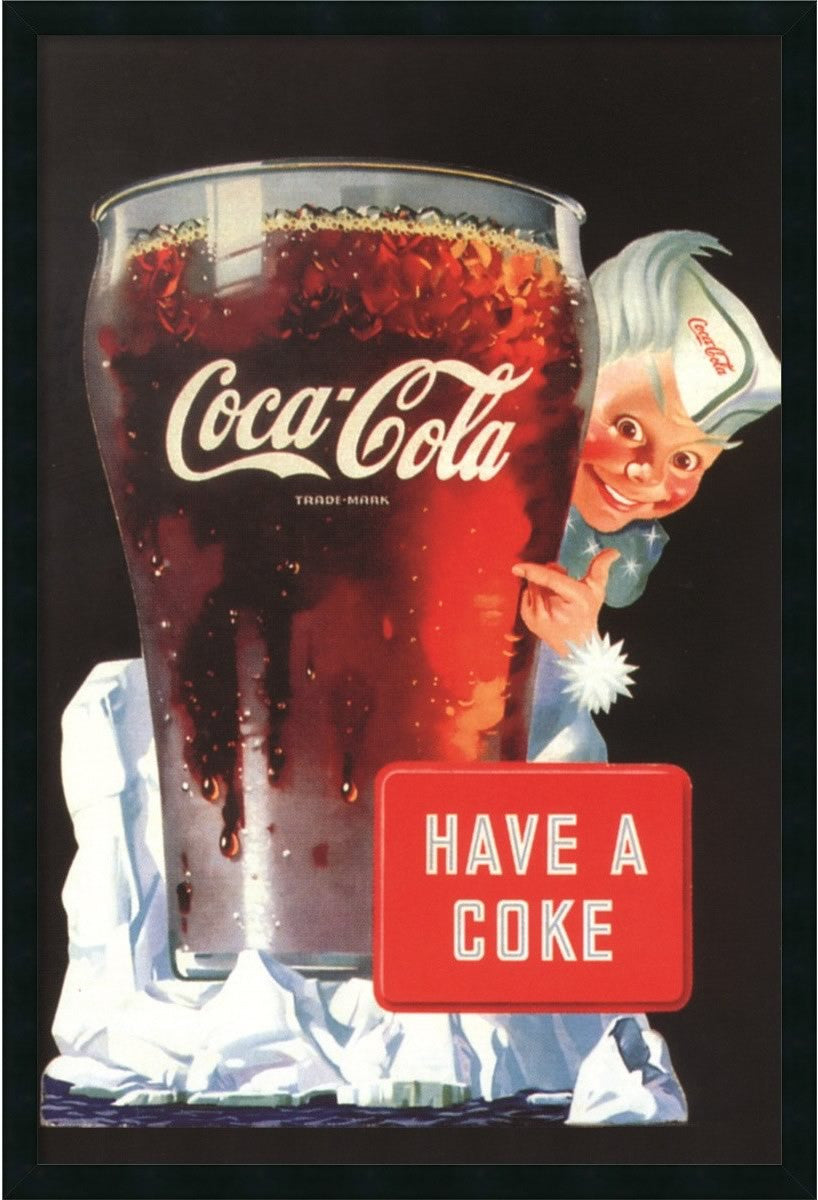 "38""H x 26""W Coca-Cola Have a Coke Framed Art Gel Coated"
