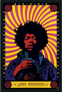"37x25"" Jimi Hendrix Psychedelic Framed Art Gel Coated"