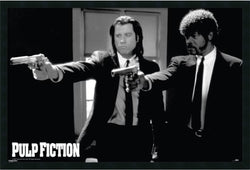 "25x37"" Pulp Fiction Duo Guns Framed Art Gel Coated"