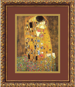 Gustav Klimt The Kiss (Le Baiser / Il Baccio) 1907 Framed Art Print Antique Bronze