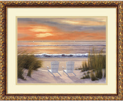 Amanti Art Diane Romanello Paradise Sunset Framed Art Print Cloud/Heritage AA419134