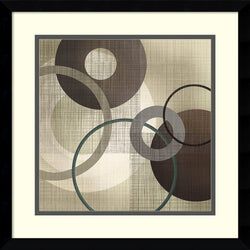 Tandi Venter Hoops n Loops I Framed Art Print White/Cinder