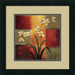 Jill Deveraux White Orchid Framed Art Print Satin Black