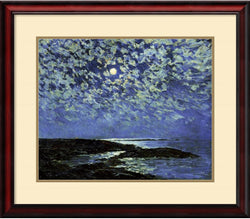 Amanti Art Frederick Childe Hassam Moonlight Isle of Shoals 1892 Framed Art Print AA419230