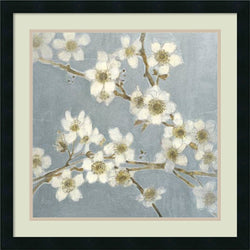 Amanti Art Elise Remender Silver Blossoms I Framed Art Print Satin Black AA426314