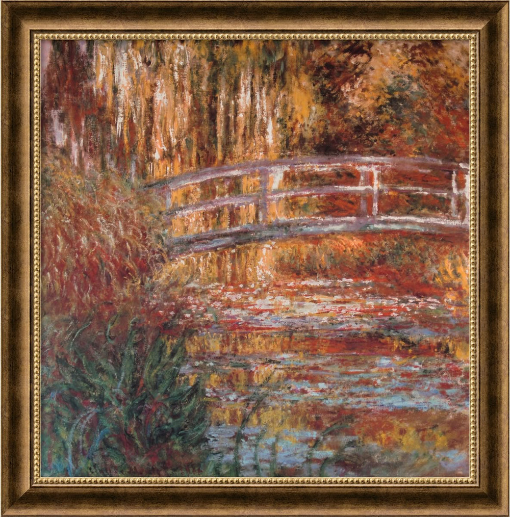 "27x27"" The Water-Lily Pond 1900 Framed Print Burnished Bronze"