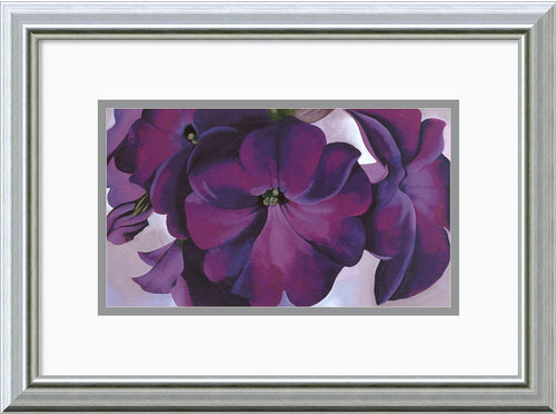 Amanti Art Petunias 1925 Framed Print by Georgia O-Keeffe Burnished Silver AA578893