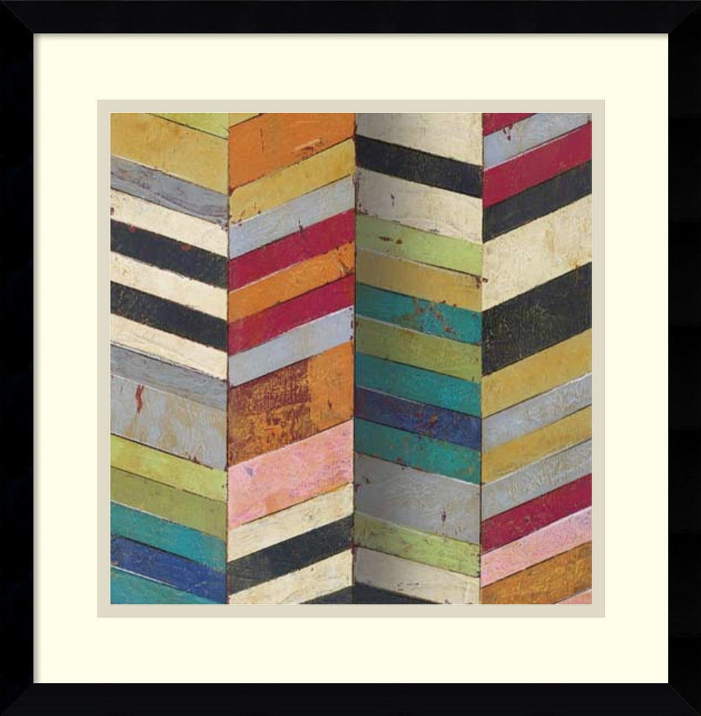 Racks and Stacks II Framed Print by Susan Hayes Black