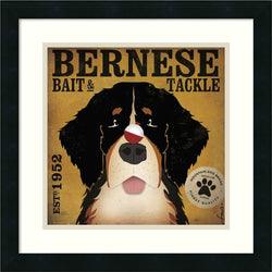 Bernese Bait and Tackle Framed Print by Stephen Fowler Satin Black