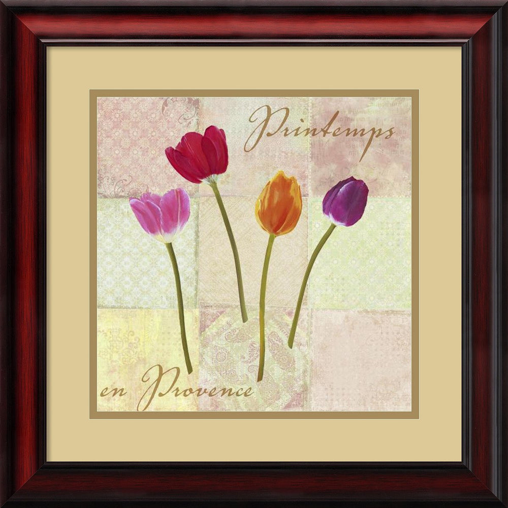 Printemps en Provence Spring in Provence Framed Print by Remy Dellal Cherry