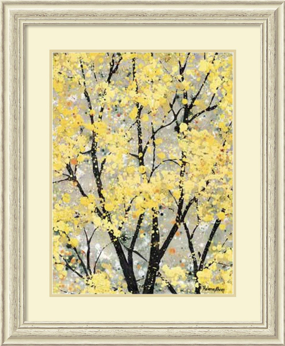 Early Spring I Framed Print by H. Alves Distressed Whitewash Wood