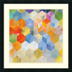 Cubitz II Framed Print by Noah Satin Black