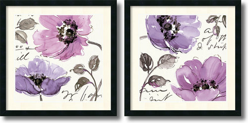 Amanti Art Floral Waltz Plum set by Pela Studio Satin Black AA950754