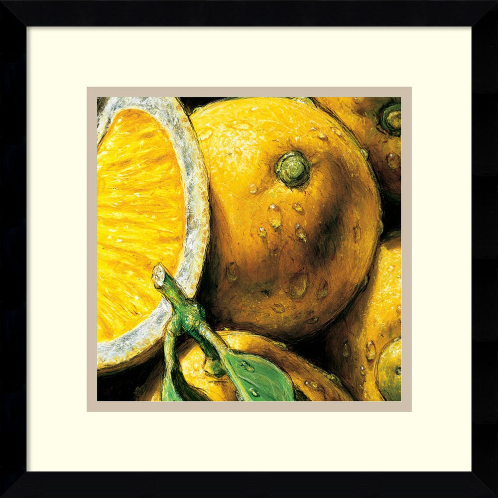 AlmaCh Lemons Framed Art Print White/Warm Gray