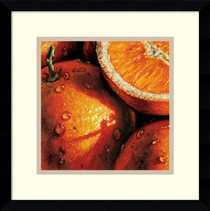 "15""H AlmaCh Oranges Framed Art Print White/Warm Gray"