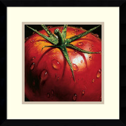 Amanti Art AlmaCh Tomato Framed Art Print White/Warm Gray AA979703