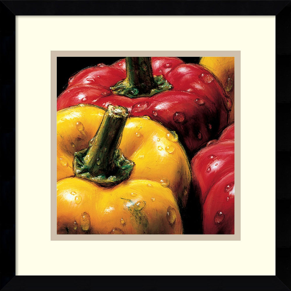 AlmaCh Peppers Framed Art Print White/Warm Gray